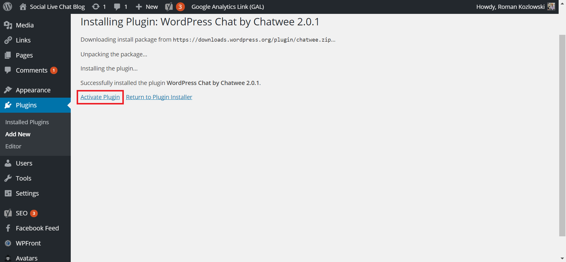 BuddyPress Chat Plugin