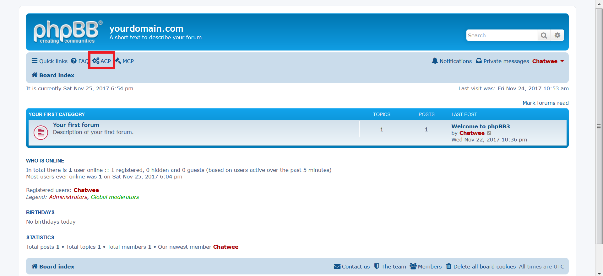 phpBB Chat add-on